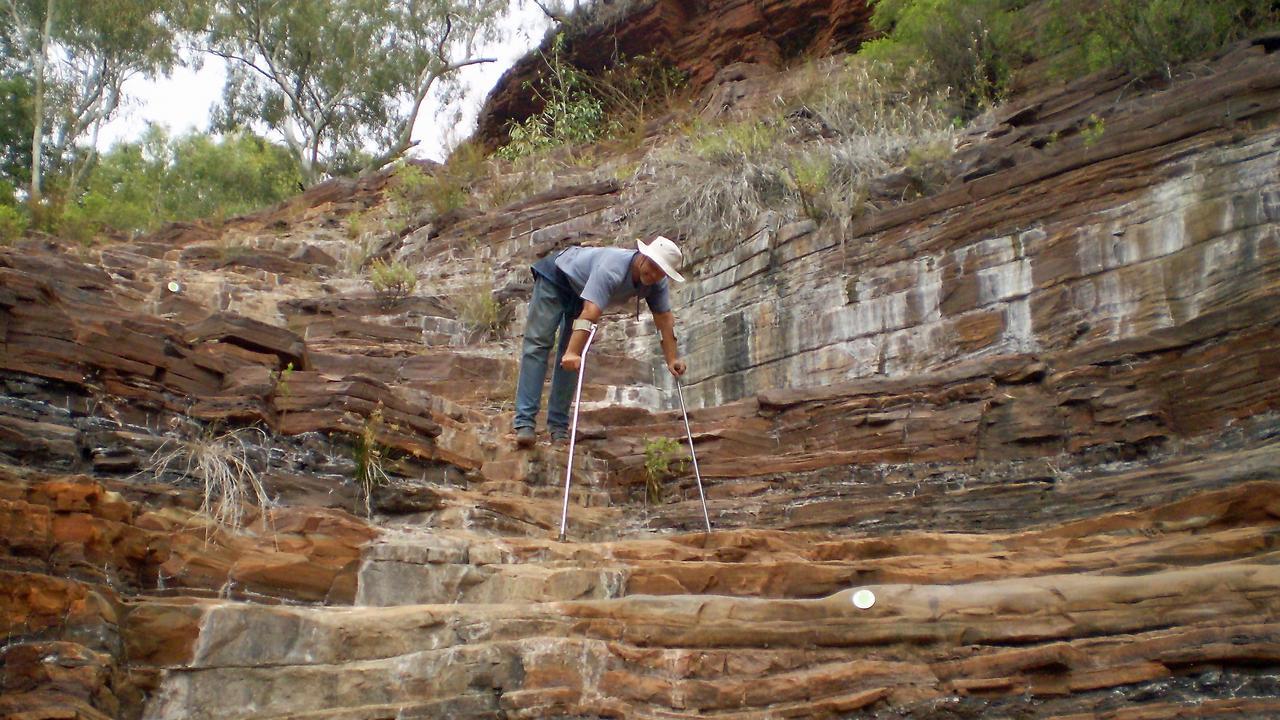 Kelvin Mickelson descending Dales Gorge at Karijini. Photo: Contributed