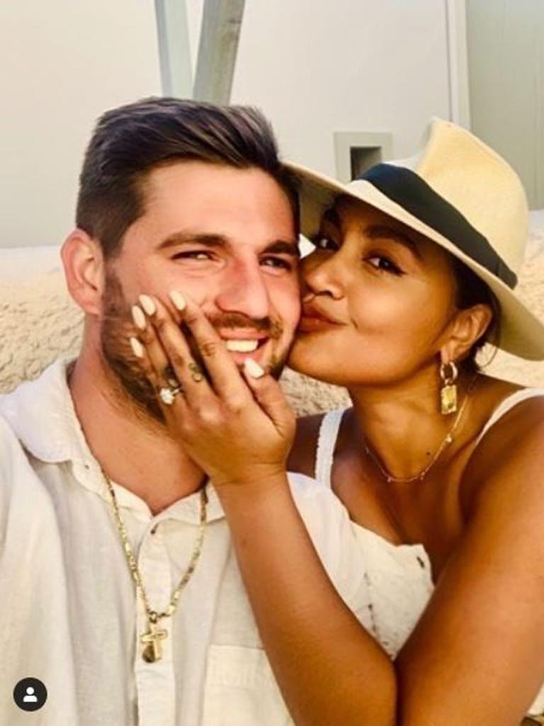 Jessica Mauboy shared her marriage proposal news with fans on Instagram. From source: https://www.instagram.com
