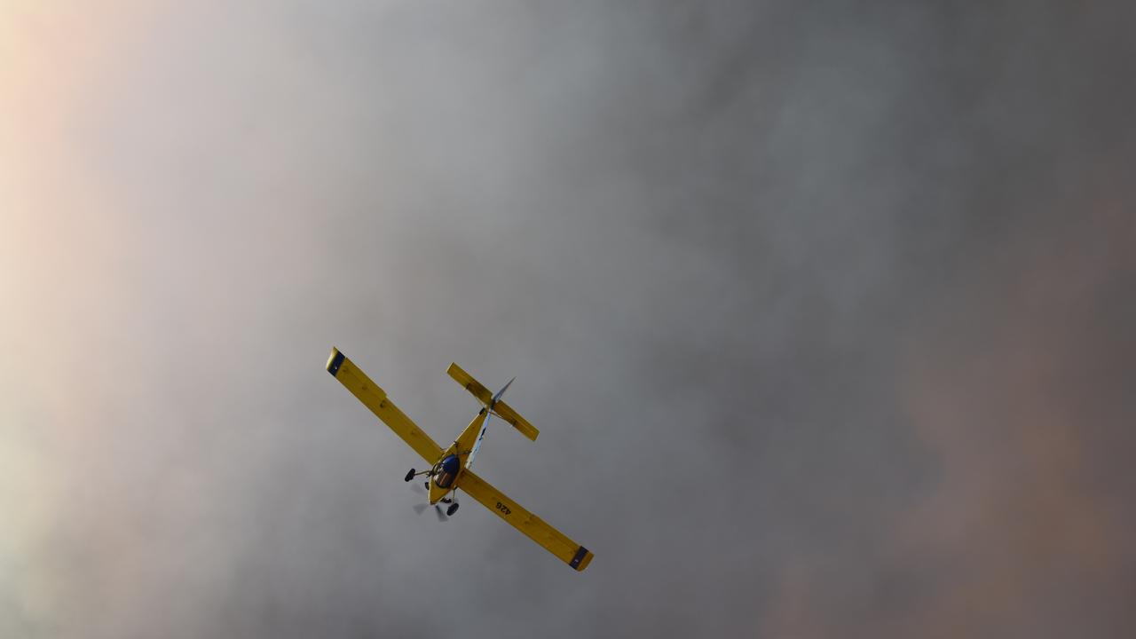 Water bombers continue to assist firefighters west of Millmerran.