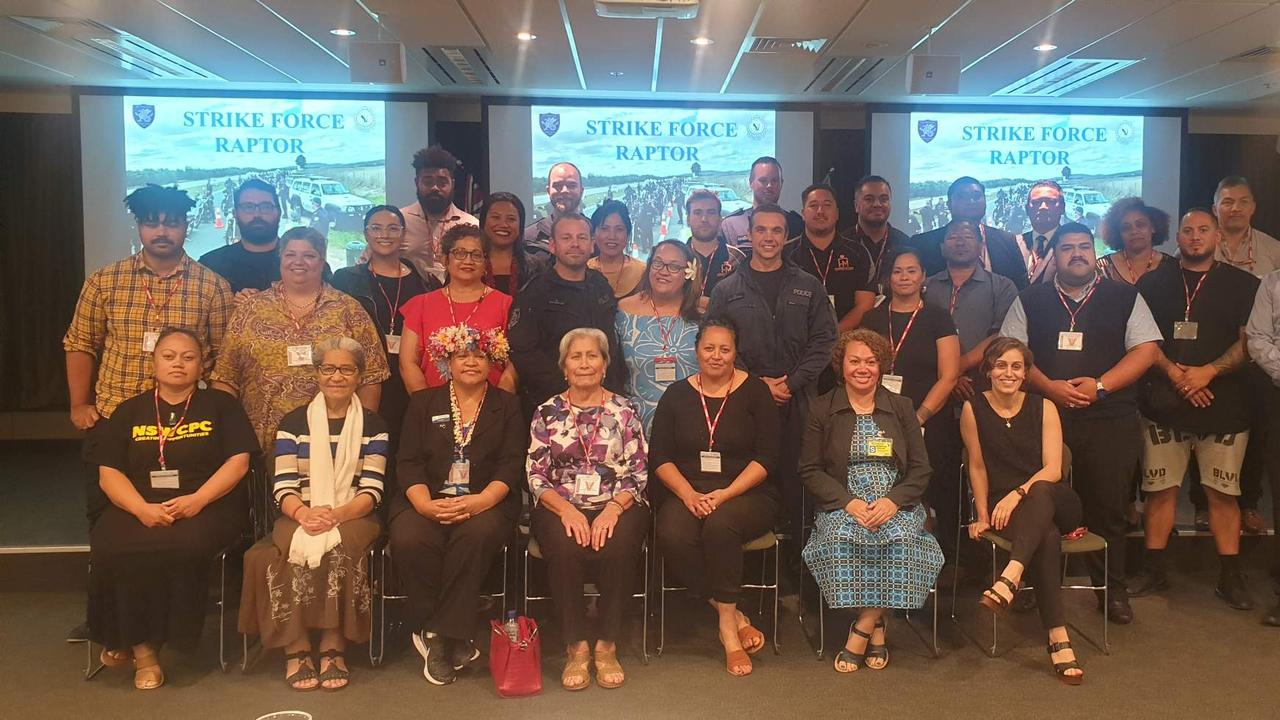 Pacific Islander community leaders met with Strike Force Raptor officers at NSW Police headquarters to discuss gang violence.