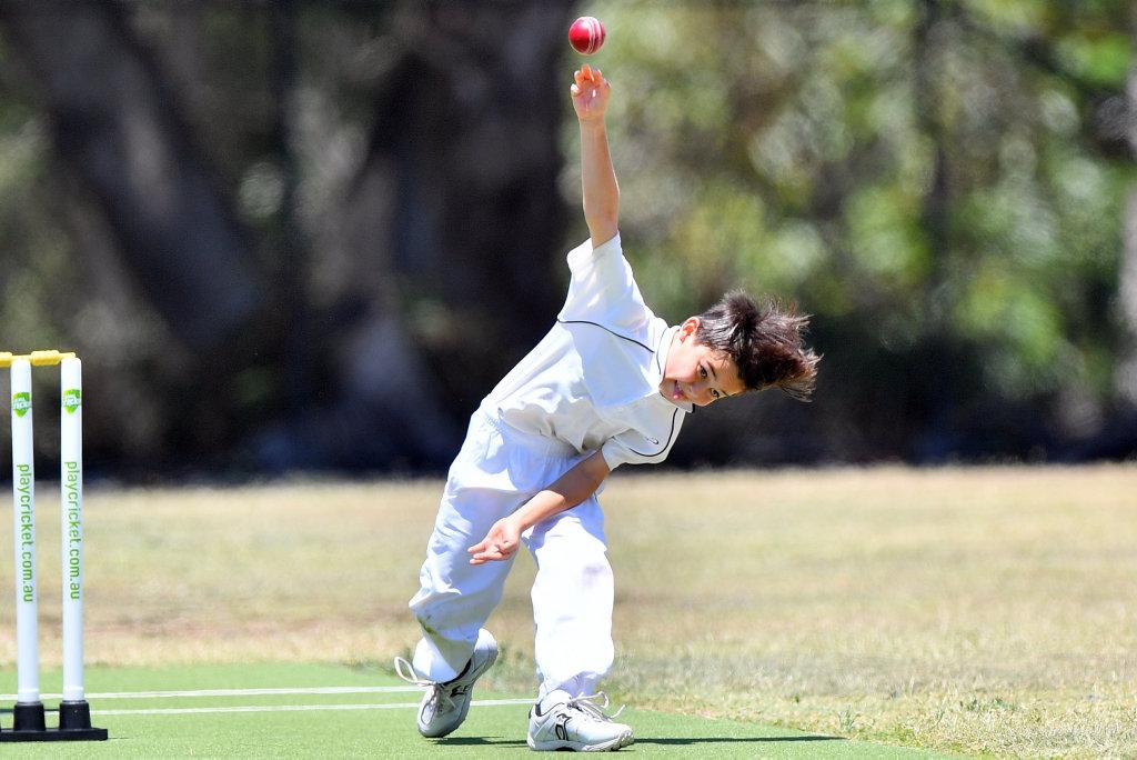 Image for sale: Junior cricket action at Buderim. Under-12 Maroochydore Blue v Buderim Maroon. Taiyo Hohn. Photo: John McCutcheon / Sunshine Coast Daily