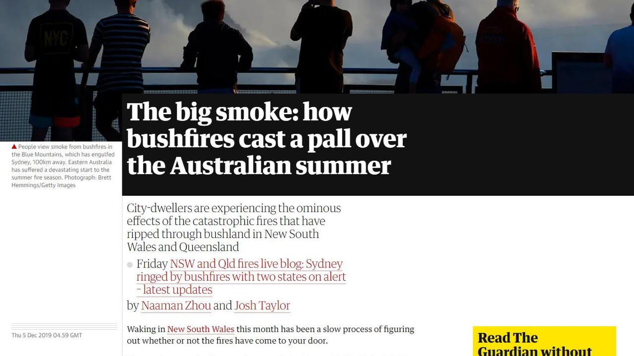 The Guardian's coverage of the bushfire crisis.