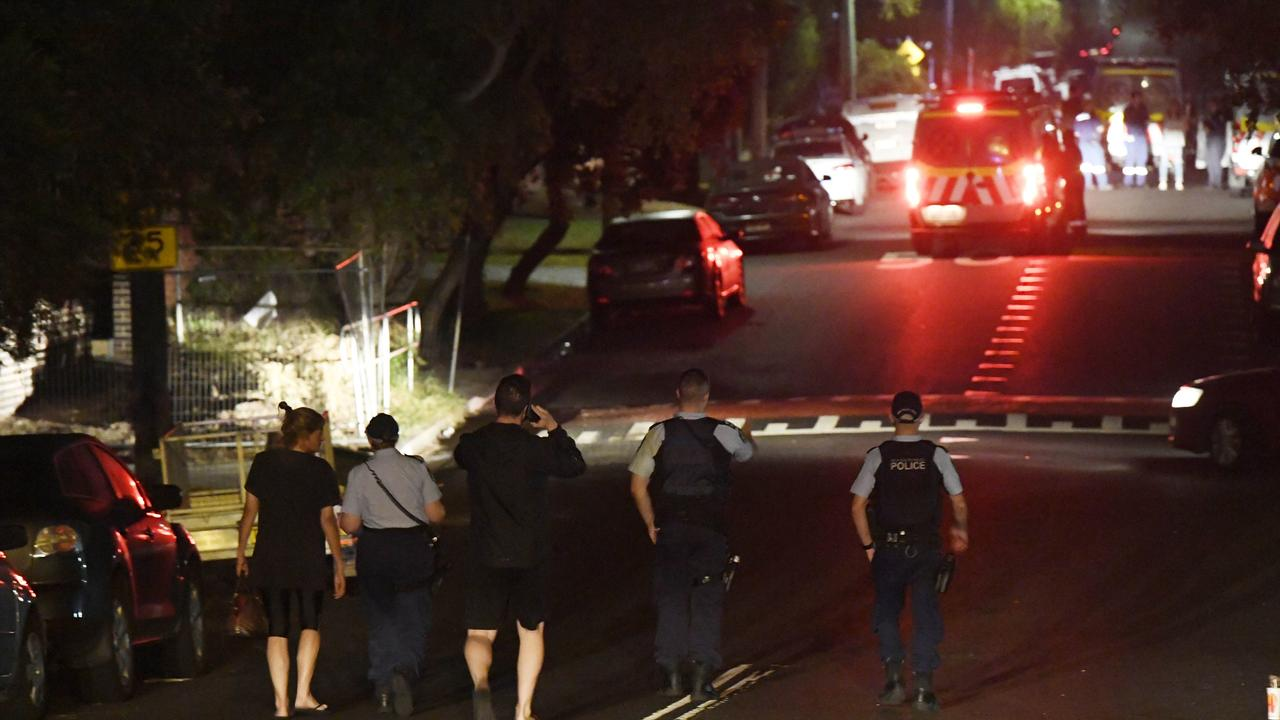 Police seal off William Street overnight. Picture: Gordon McComiskie