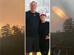 TV couple's frantic bid to save 'happy place' from inferno