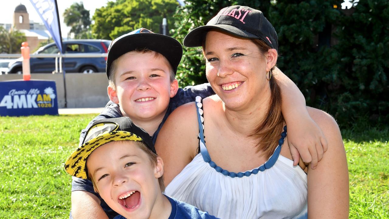 Melinda Causon with her boys Noah and Riley Harris.