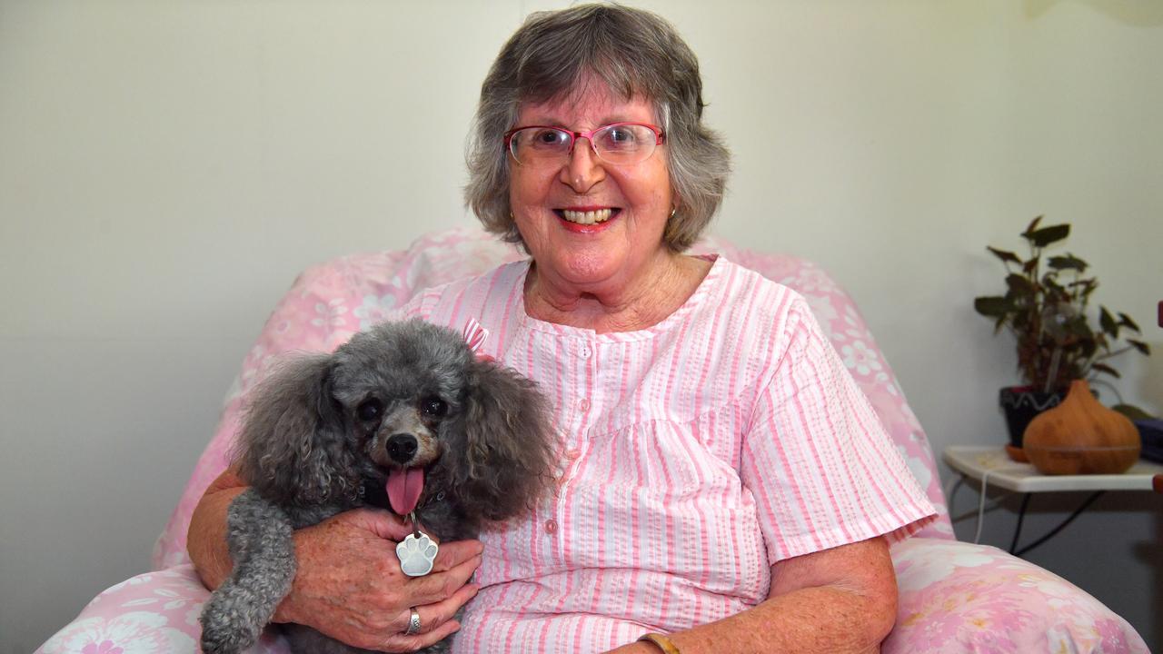 BEST FRIEND: Barbara Kelly with her dog Poppi. Photo: John McCutcheon / Sunshine Coast Daily