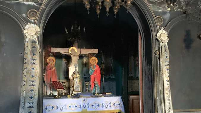 Church altar, relics 'miraculously' saved from fire