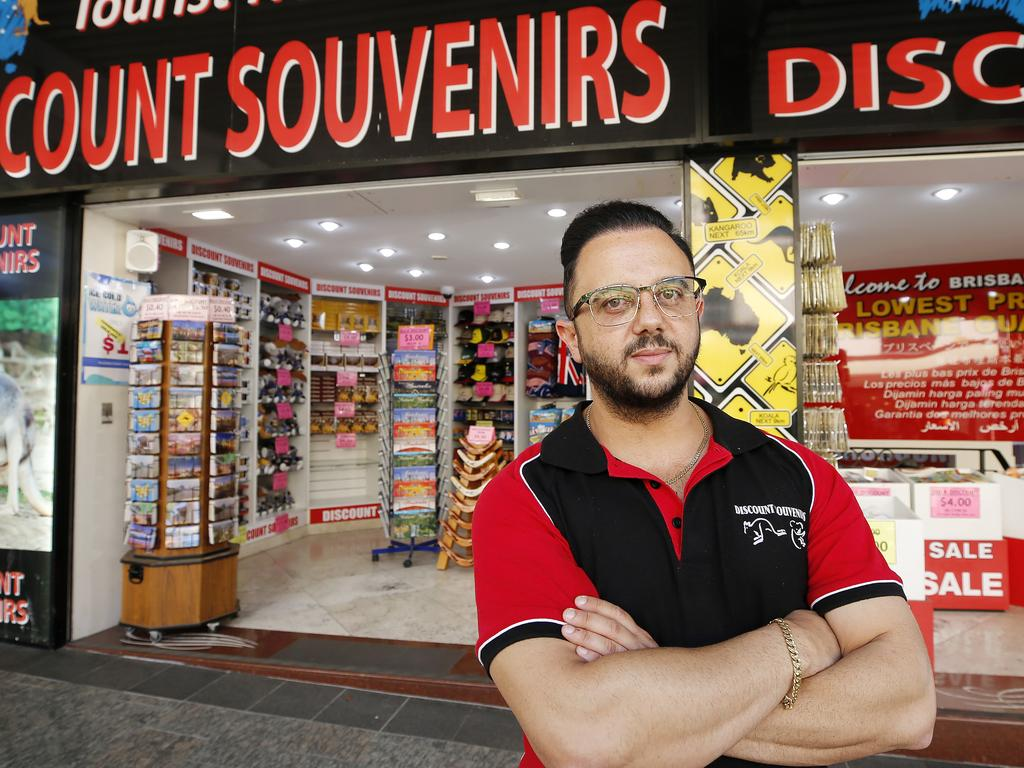 Manager of Discount Souvenirs James Nasrawi. The store loses $300-$500 worth of goods a day due to theft. Picture: AAP Image/Josh Woning