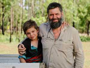 Boy, 8, saves dad's life after brown snake bite