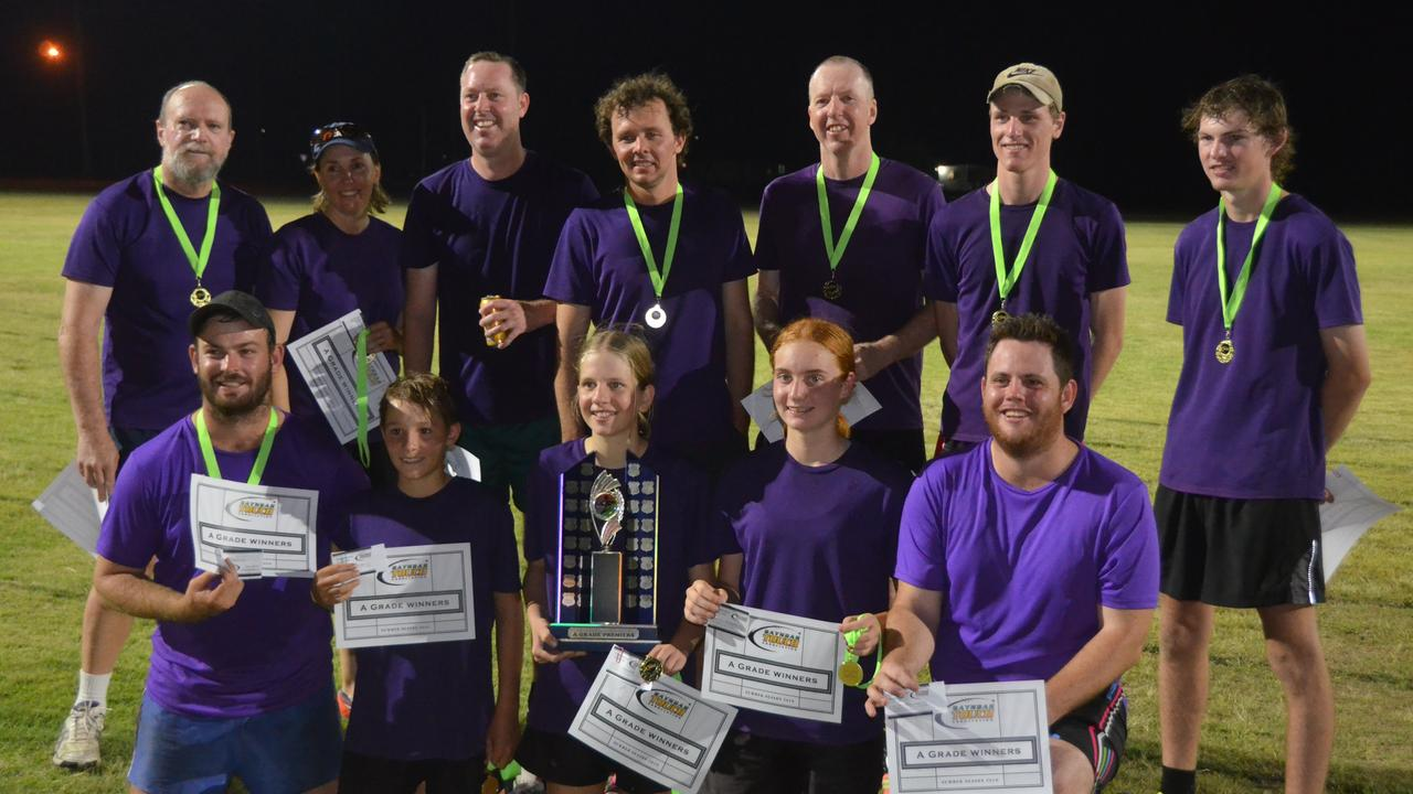 SUMMER FINALS: The A Grade winners Riverbend at the Gayndah Touch summer season grand final. Picture: Sam Turner.