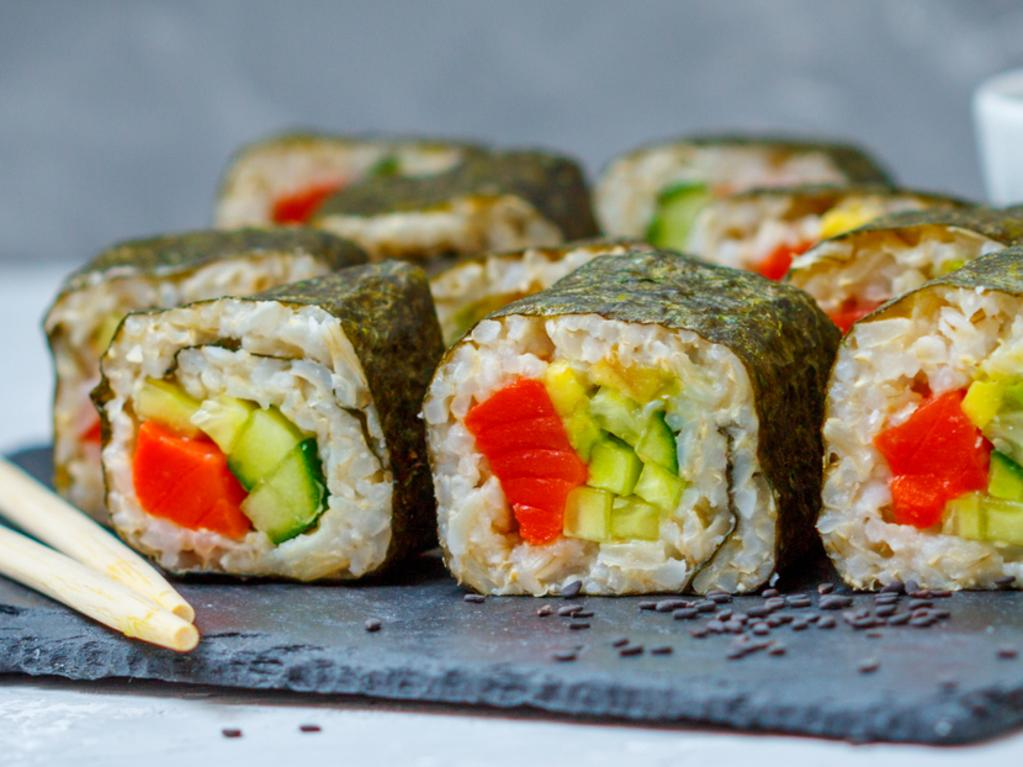 Make sure to get sushi made with brown rice, lots of veggies and fresh seafood. Picture: iStock.
