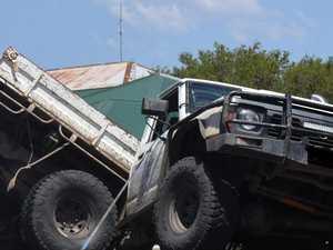 PHOTOS: Car 'cut in half' in Gympie crash