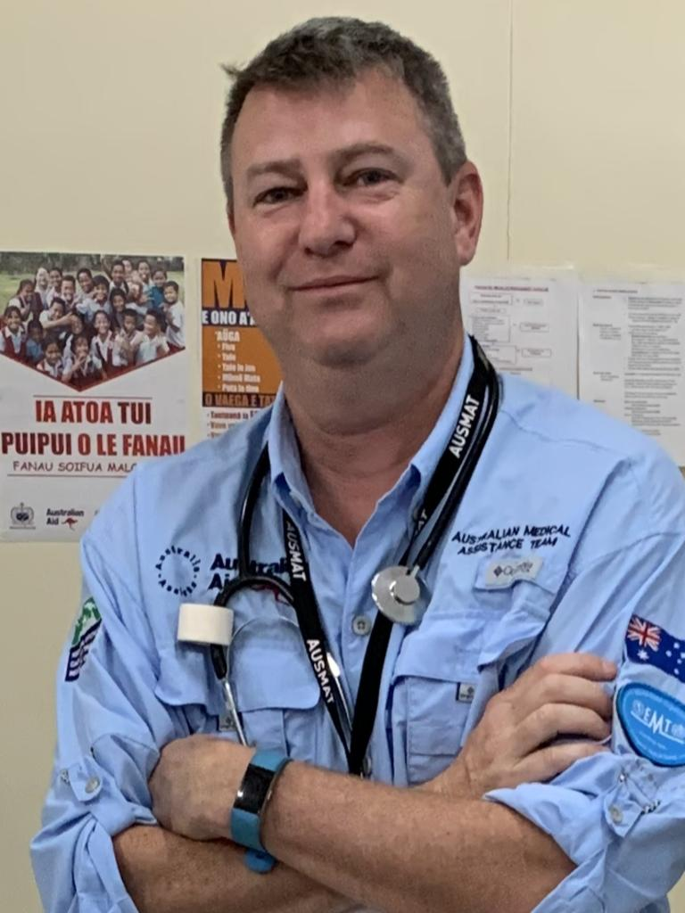 Dominic Sertori is a paediatric emergency nurse deployed with the Australian Medical Assistance Team.
