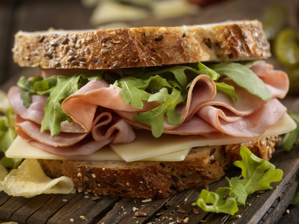 A veggie packed sandwich with wholegrain bread is a healthy option. Picture: iStock