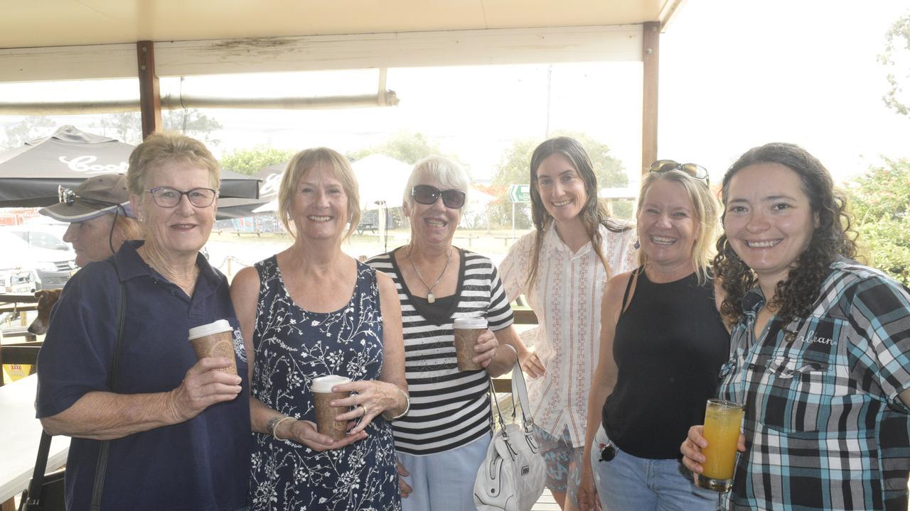 Steph Holden, Lorna Harling, Sandra Pearson-Adams, Kara MacLeod, Cheryl Smith and Maiara Rocha Skarheim at the Harwood Hotel's free breakfast on Saturday, December 7. Photo: Jarrard Potter