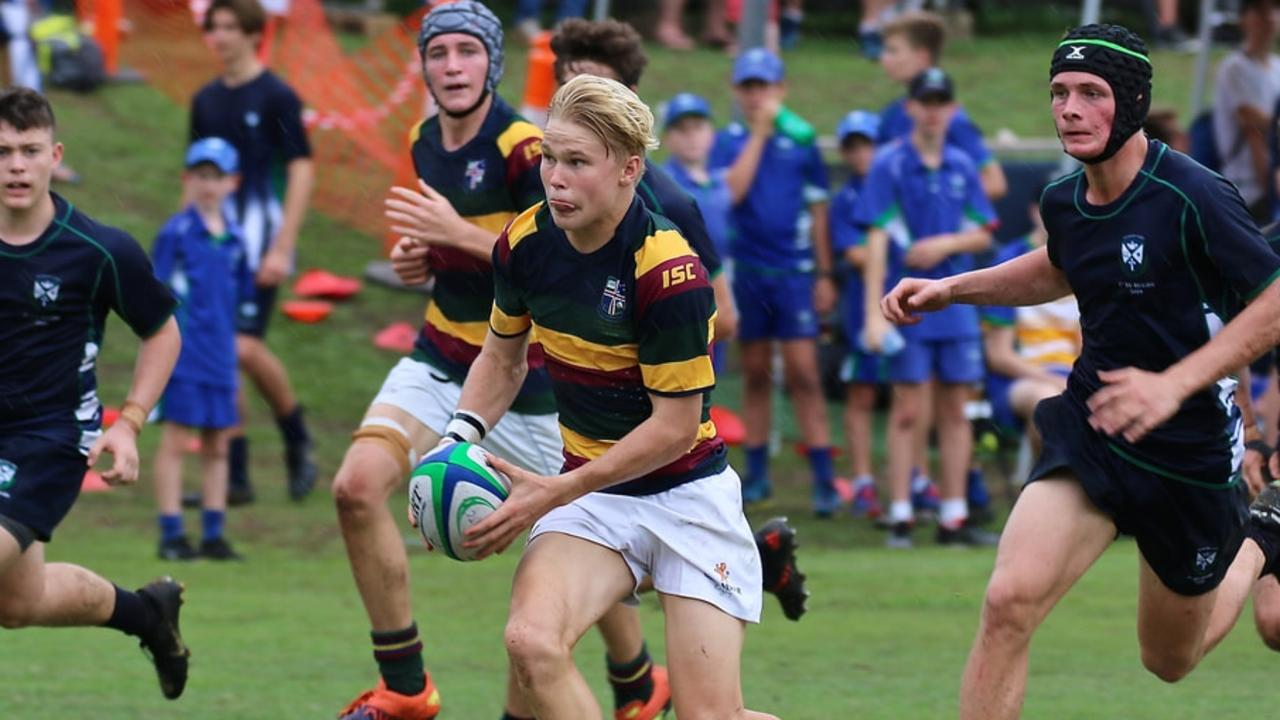 PROMISING PLAYER: Louis Werchon with the ball for Sunshine Coast Grammar. Picture: Contributed