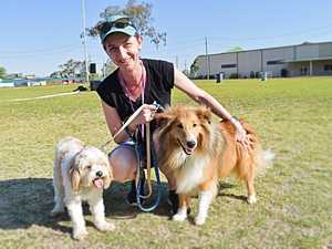 Cherie Luxton with Millie and Copper.