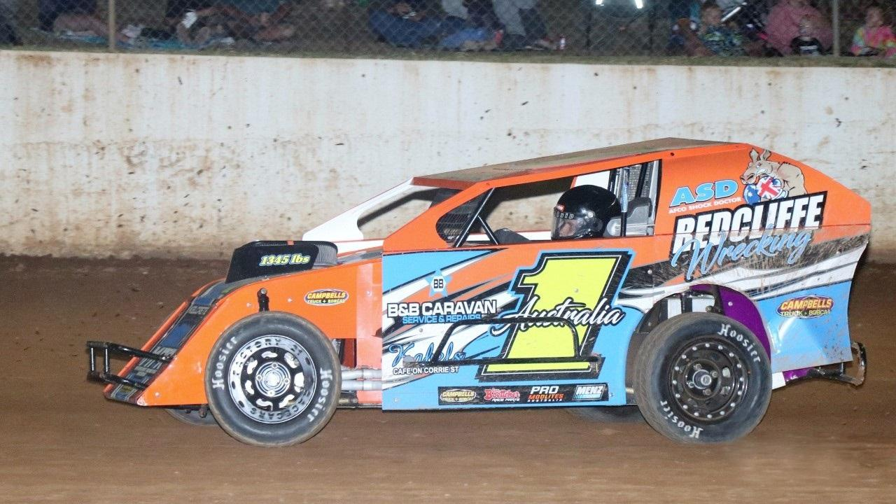 SPEEDWAY: Australian champion Gympie's Kyle Honour in the modlite which will be racing on December 27. (Contributed)