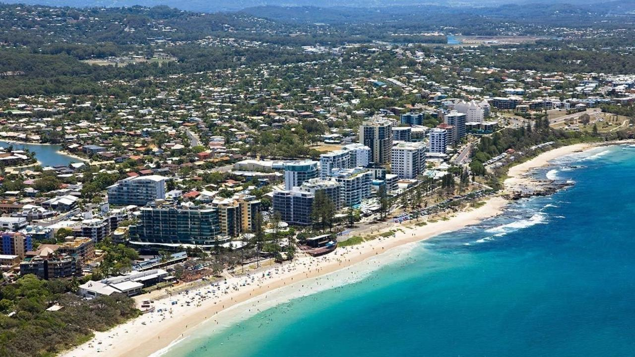Tourism has proven a huge contributor to the Sunshine Coast economy, according to new government data. Pictured is Mooloolaba main beach.