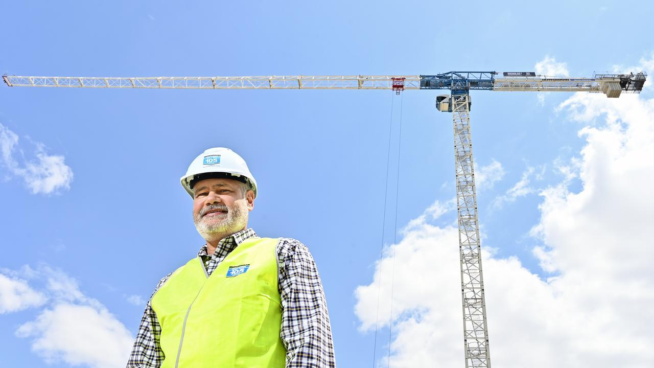 Ipswich City Council interim administrator Greg Chemello on the site of the CBD redevelopment.