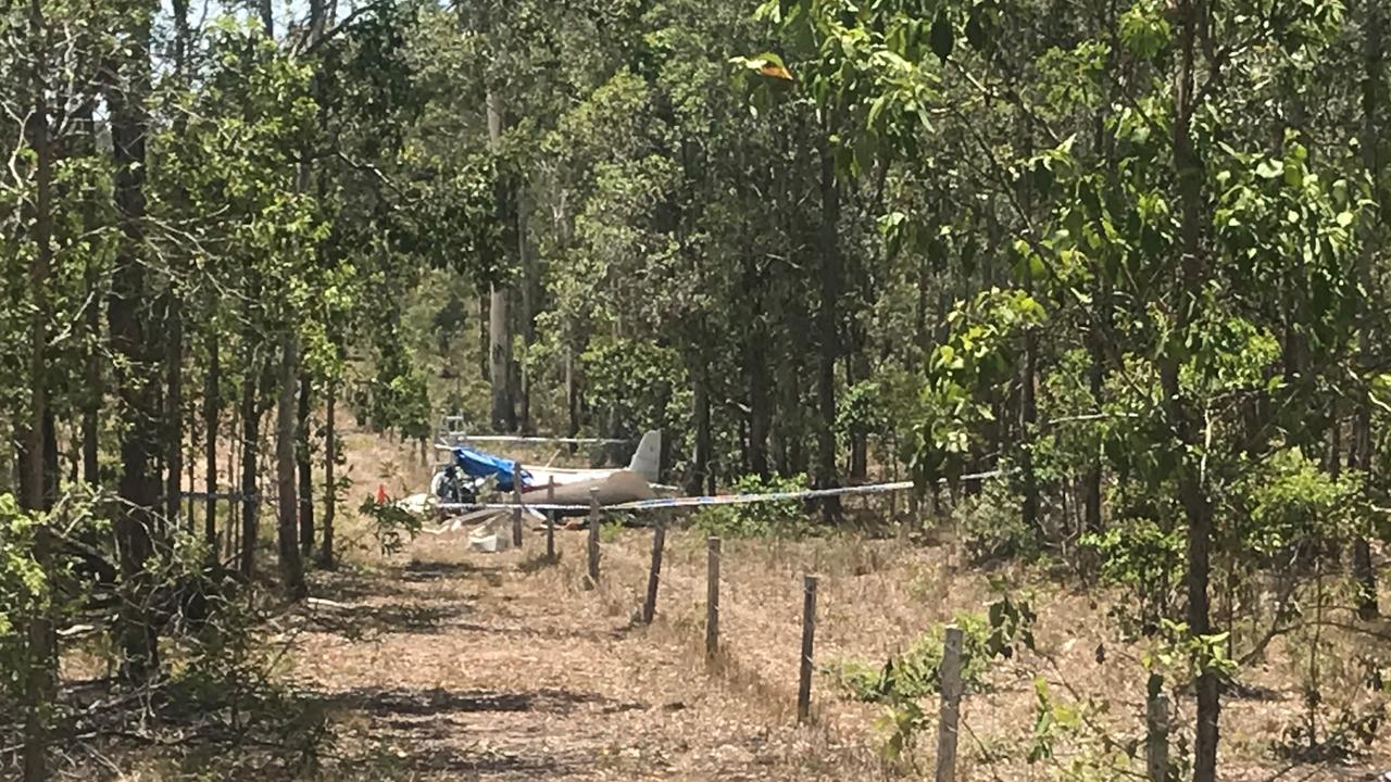 The plane crashed at the end of a runway at Round Hill Rd about 7am this morning, killing the two men on board.