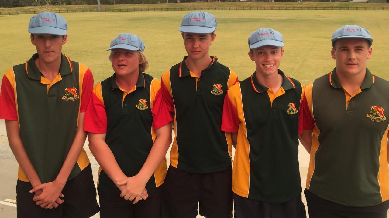 Five cricketers from St John's College Woodlawn were named in the Australasian Marist merit team. Photo: Contributed