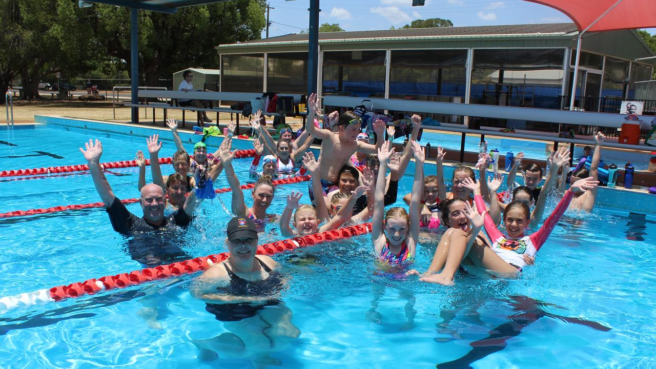 HAPPY SWIMMING: All of the participants at the Kingaroy Aquatic Centre's Swim-a-thon 2019. Picture: Laura Blackmore