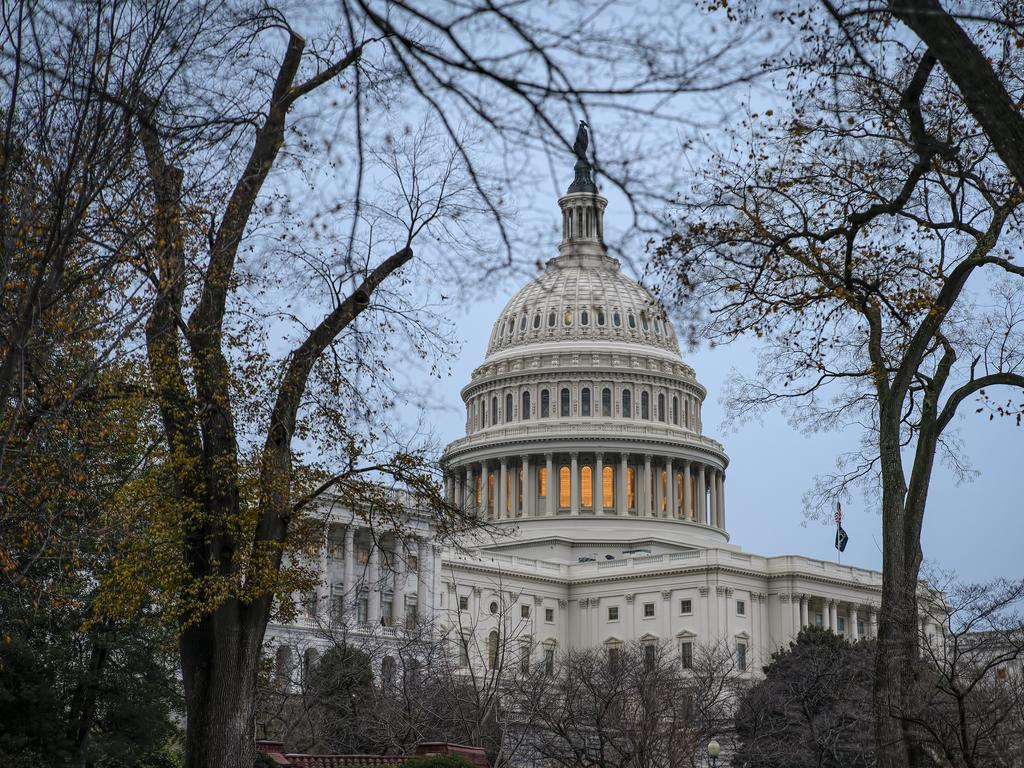The Capitol in Washington DC was in lockdown. Picture: AP Photo/J. Scott Applewhite