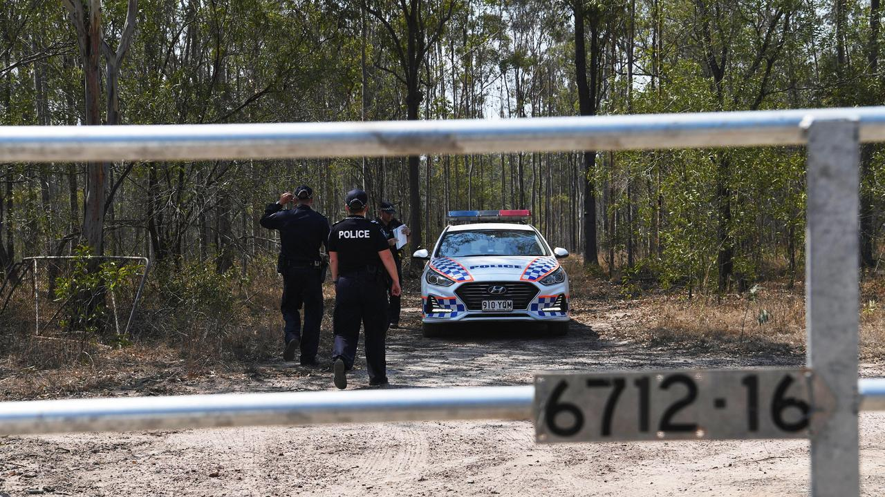 Police on scene following a shooting at Tiaro, south of Maryborough. Picture: Cody Fox