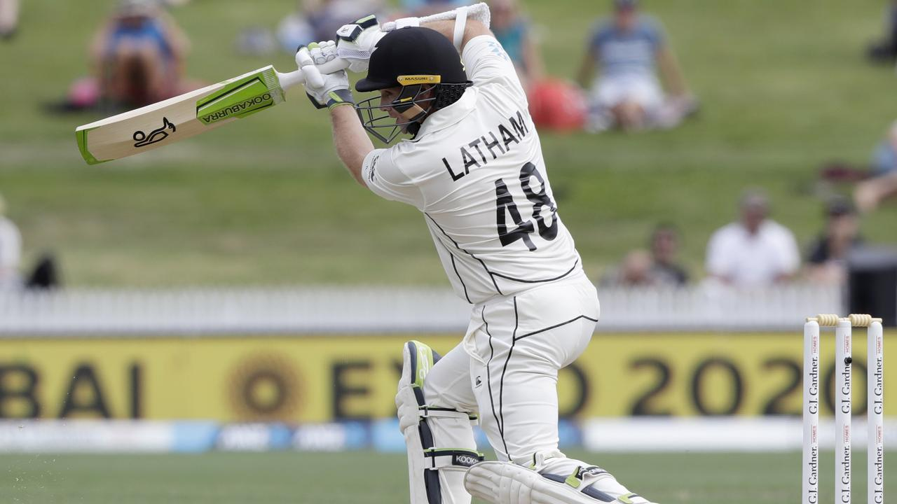 New Zealand's Tom Latham bats during the second cricket Test between England and New Zealand at Seddon Park in Hamilton, New Zealand, this month.