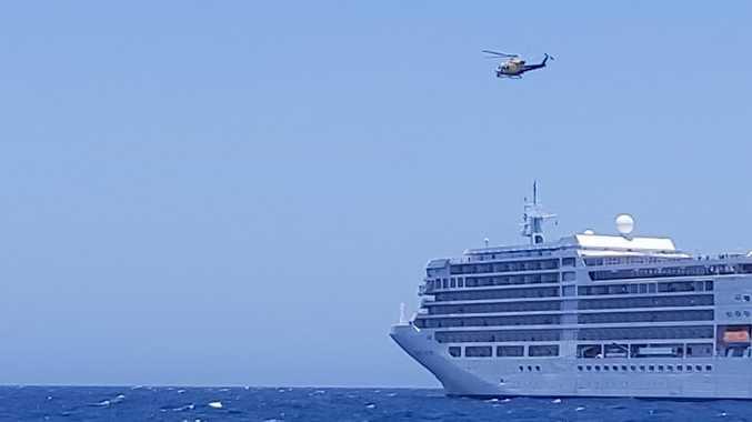 Yeppoon Coast Guard visits its first cruise ship