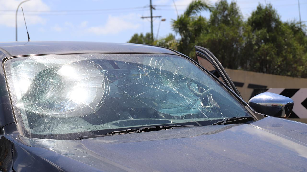 Police were called to Connors Rd after bystanders performed a citizen's arrest for a man who allegedly tried to flee the scene after crashing an alleged stolen car.