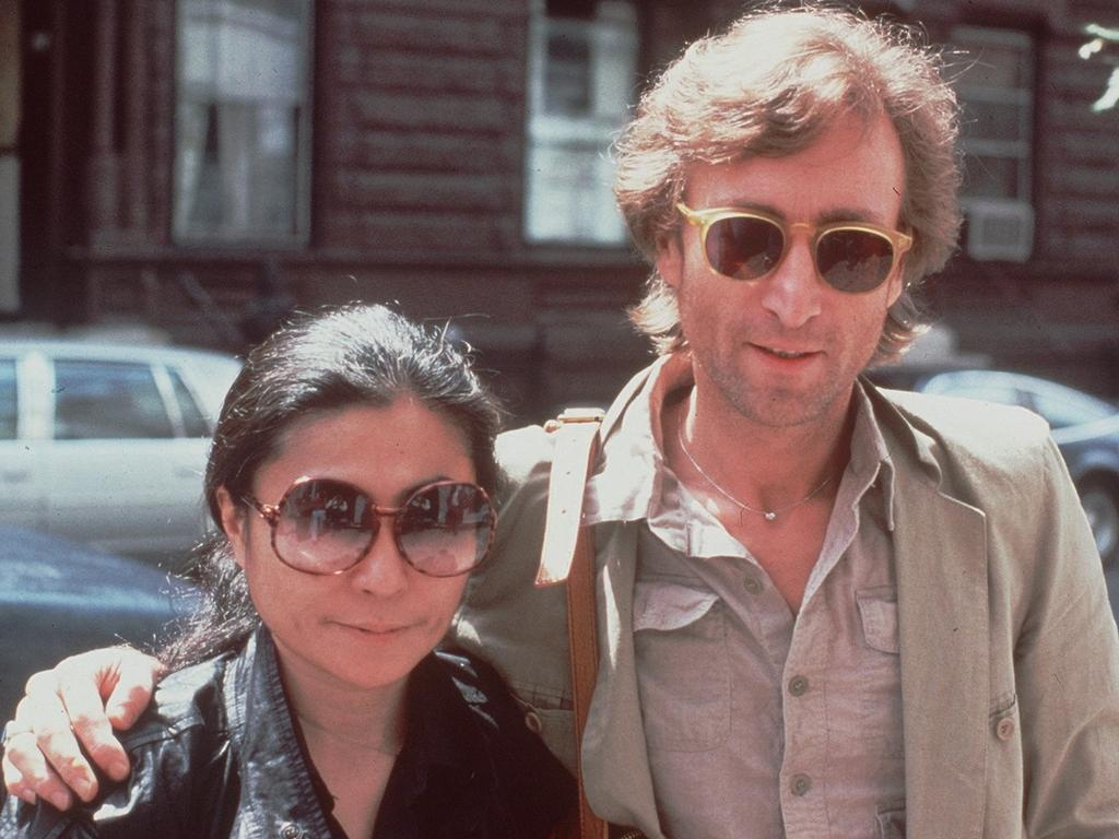 John Lennon and Yoko Ono shortly before his death. Picture: Supplied
