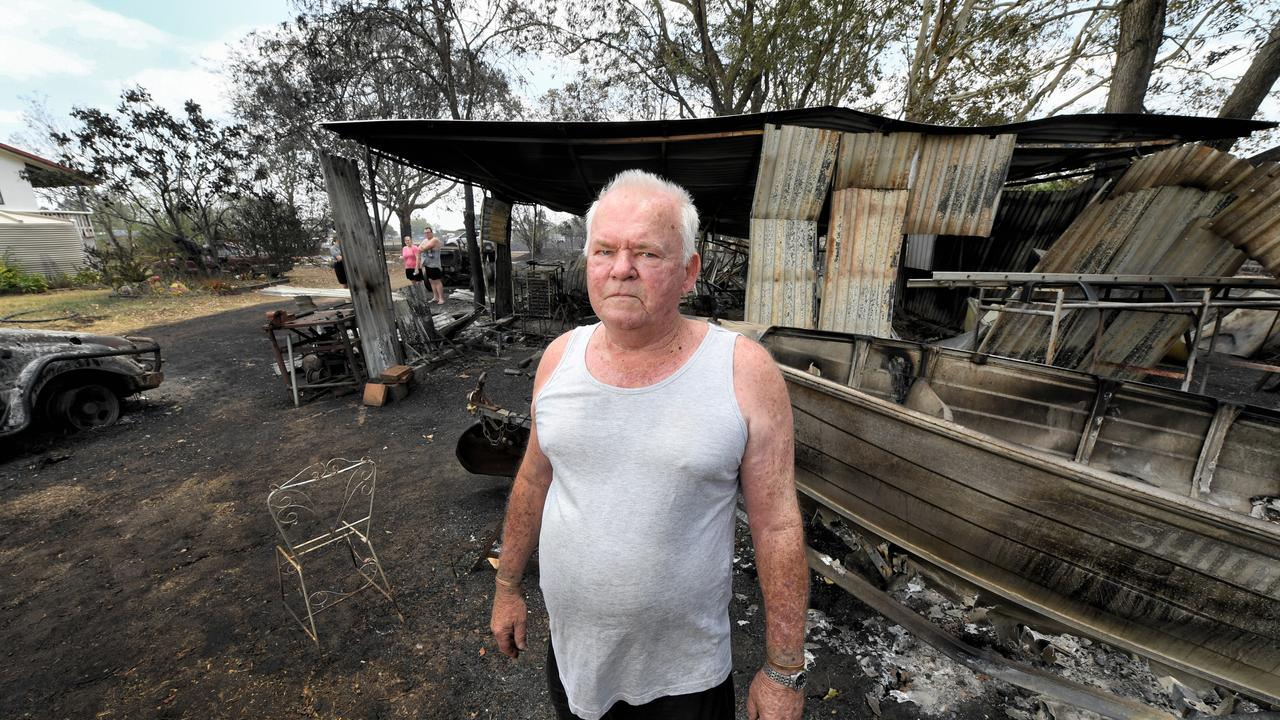 Tom Parker at his property on Egerton Street in Bundamba. Pictures: Rob Williams