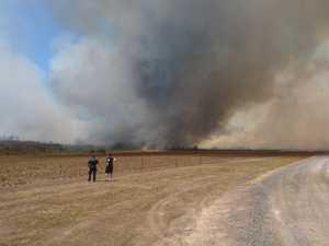 Smoke billows at Goodwood