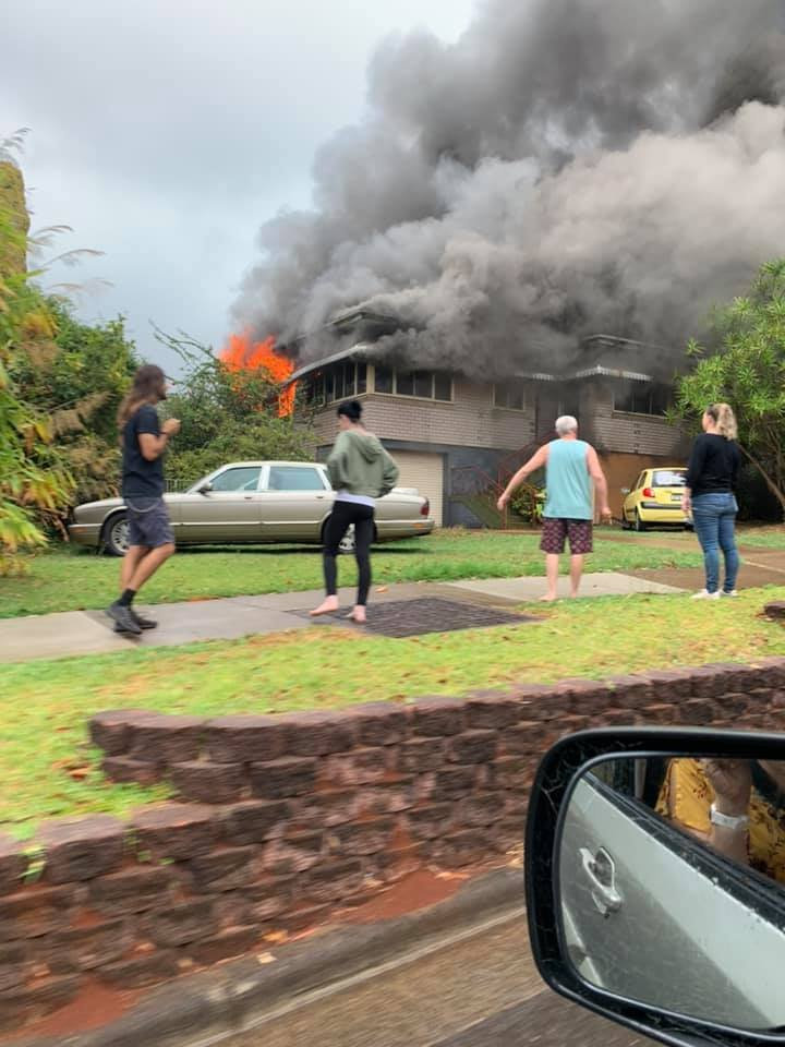 HOUSE FIRE: A house at Alstonville is on fire and emergency services are understood to be on their way.