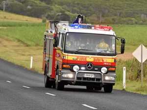 Truck on fire on Warrego Highway