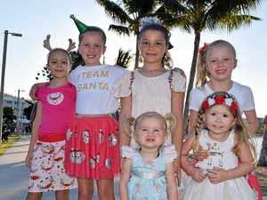 CHRISTMAS CHEER: Festive families at Carols by the Beach