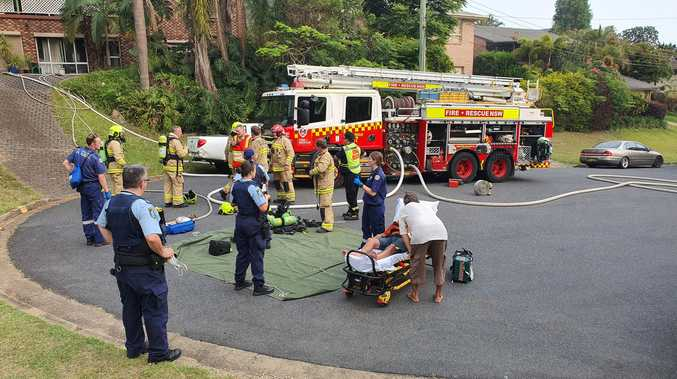 House fire reignites and roof collapses