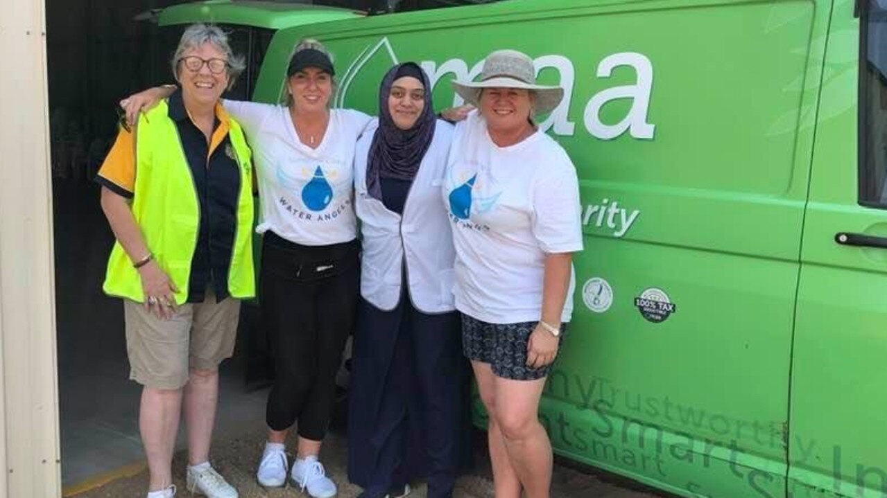 HERE TO HELP: Sally Edwards, Anna Bradley, Michelle from Muslim Aid and Rachel Wise.