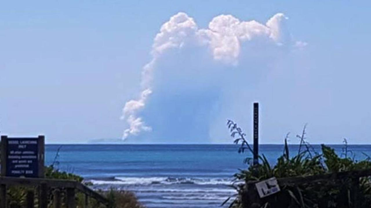 An eruption is currently happening at Whakaari/White Island. Picture: NZ Herald