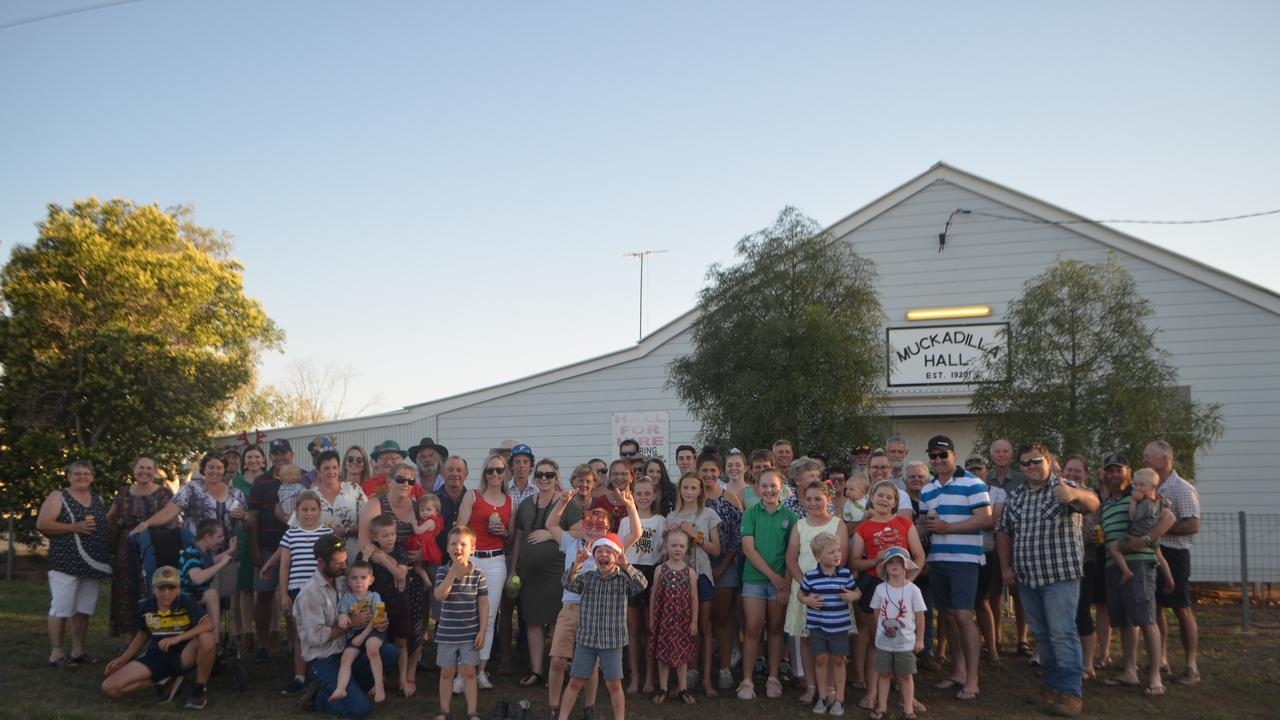 The community of Muckadilla gathered for their annual Christmas party at the local hall. Since losing the pub, the hall has been the centre of all social activities in town.