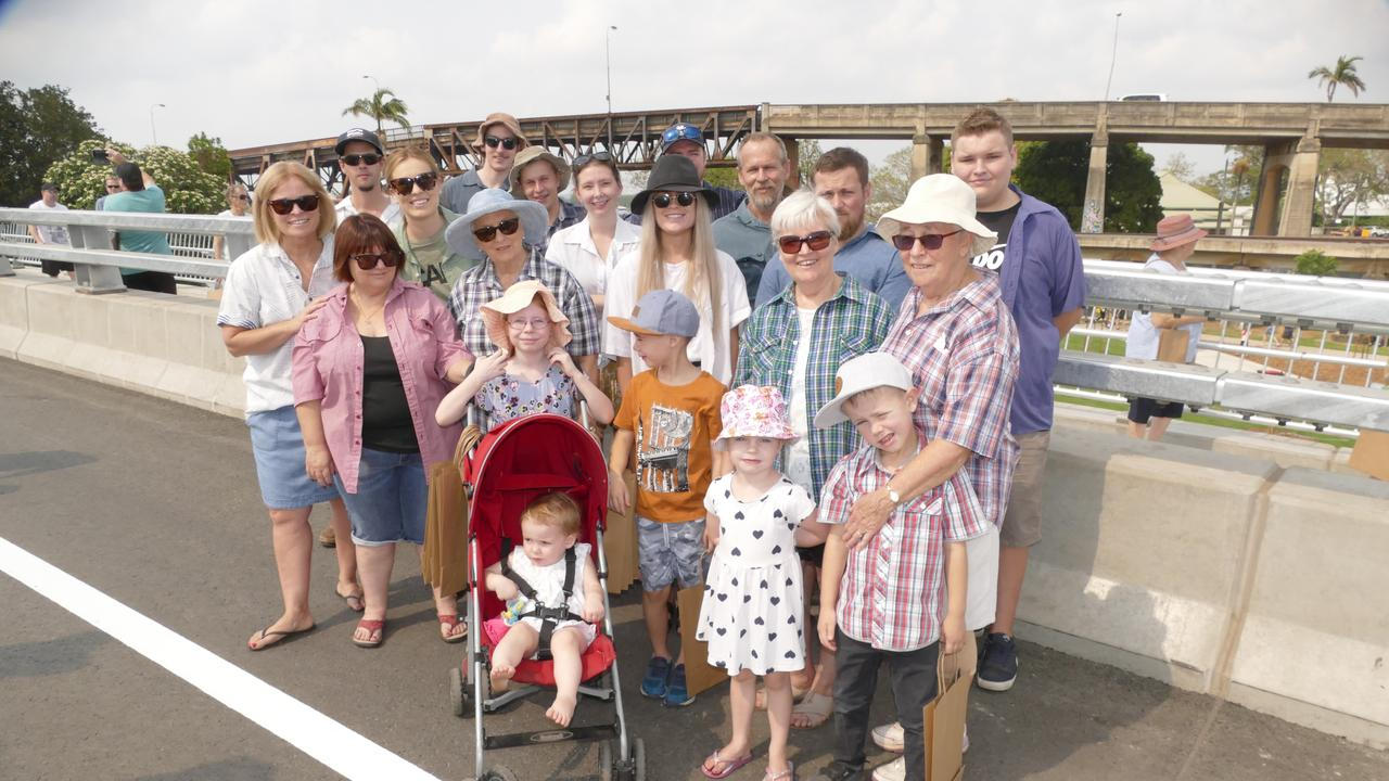 The family of Bernie McDonald wore shirts of their beloved husband, father, grandfather and uncle when they crossed the new bridge on Sunday. Bernie died on Wednesday, but not before the RMS allowed him a special crossing just four days earlier.