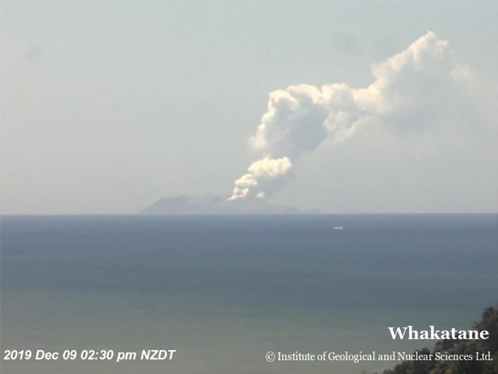 White Island active volcano – the eruption 2:30pm Picture: GEONET