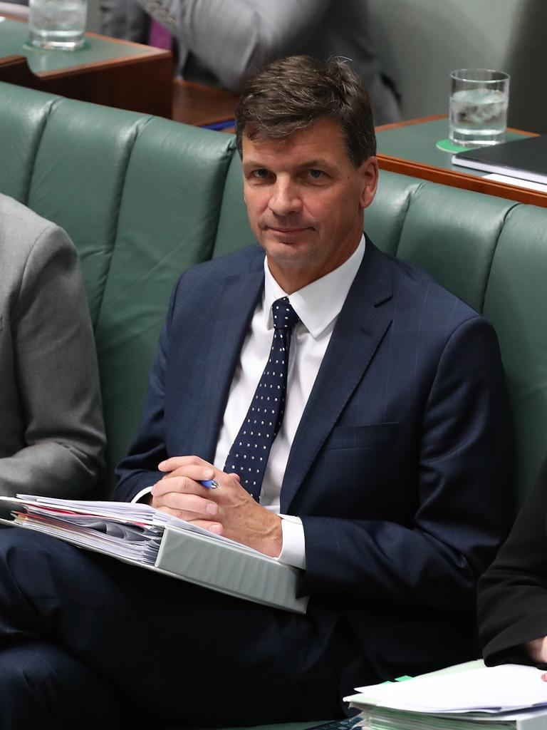 Energy Minister Angus Taylor says electricity prices have started to turn the corner on the back of a string of reports saying power bills are falling. Picture Kym Smith