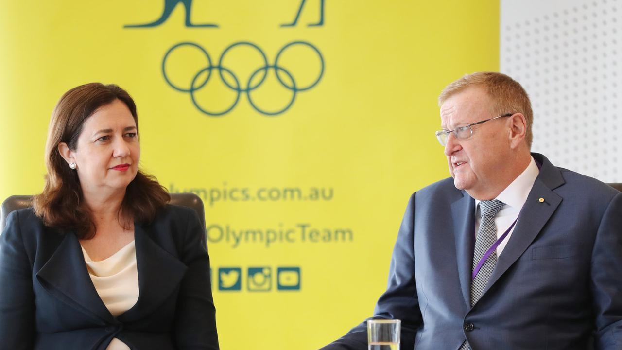 Premier Annastacia Palaszczuk and John Coates meeting to discuss Brisbane's potential Olympic bid.
