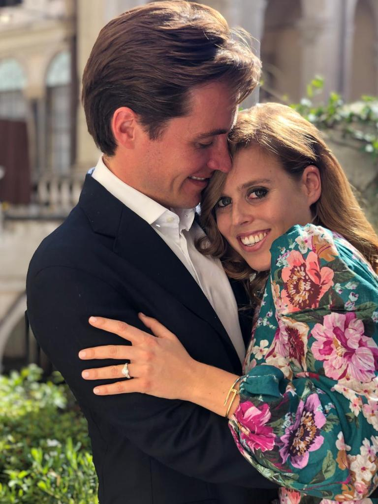 Princess Beatrice got engaged to Edoardo Mapelli Mozzi in September. Picture: Twitter/The Duke of York