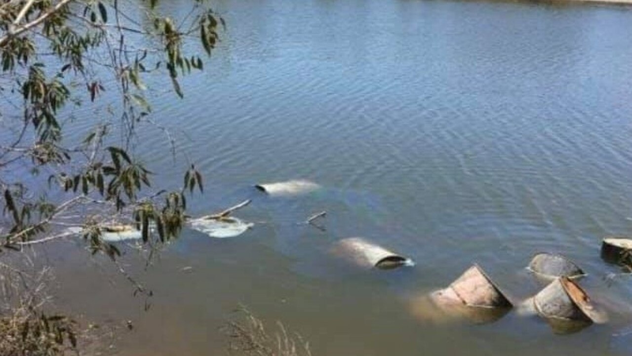 In October, nine drums of waste were found dumped in a tidal lagoon off Sandy Point Road, north of Yeppoon.