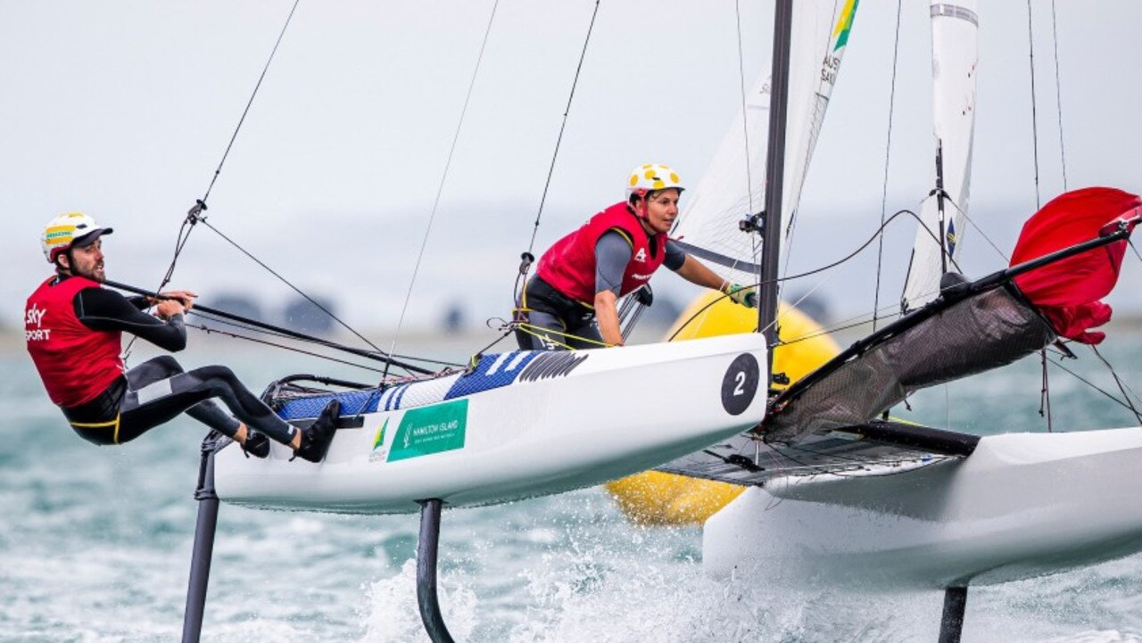 The Australians in action at the world championships.