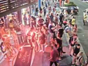 Panic as firework explodes outside Qld nightclub